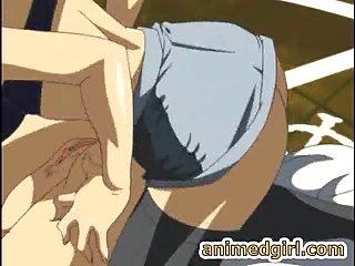 Dominanter Hentai Shemale zwingt eine Vollbusige Schlampe