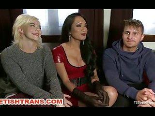 Sexy Transe Jessica Fox fickt Mann und Frau