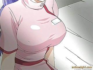 Vollbusig Hentai Krankenschwester hart gefickt von Shemale