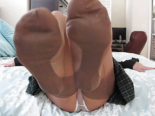 Transe in Nylonstrumpfhose