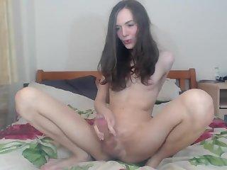 Skinny Sexy transe Camshow & Cumming
