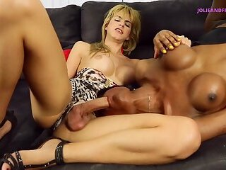 THREESOME TGIRLS SEX WITH SMOKING HOT BABES