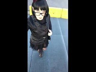 Andreina high heels walking