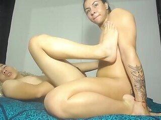 Horny young latina fucking her FWB bareback